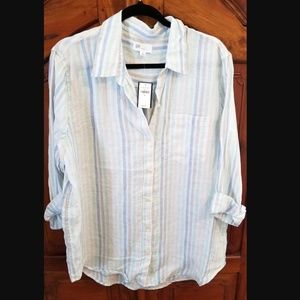GAP - Women's Boyfriend Shirt In Linen